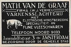 de stad Amsterdam 1923  adv  varkenssslager (janwillemsen) Tags: advertising amsterdam 1923 magazineillustration