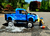Sunshine suds (143/365) (robjvale) Tags: nikon d3200 adventurerjoe lego project365 soap suds bucket wash washing clean truck driveway sponge
