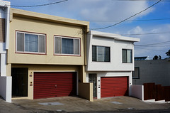 San Francisco (bior) Tags: sanfrancisco leicam3 velvia fujifilmvelvia100f velvia100f summicron expiredfilm house home garage powerlines