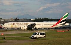 Emirates (Year of Zayed 2018 Livery). A6-EQH. Boeing 777-31H(ER). EK83. (Themarcogoon49) Tags: b777 b77w aircraft gva lsgg cointrin airport planespotting avgeek switzerland