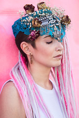 CHIARA (CriStina Pravato) Tags: persian girl light blu pink flowers dread eyes close