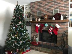Xmas Tree 2017 5 (daryl_mitchell) Tags: winter 2017 saskatoon saskatchewan canada xmas tree home fireplace