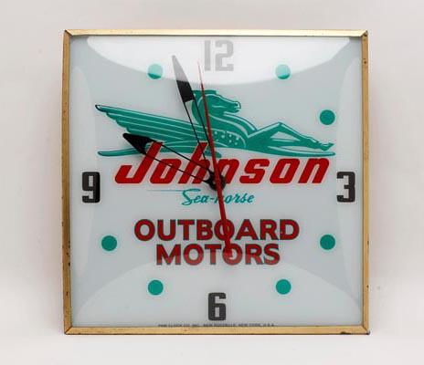 Johnson Outboard Motors Advertising Clock ($336.00)
