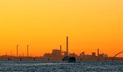 Industrial sunset (poludziber1) Tags: venice italia italy orange sunset venezia