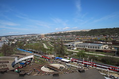 Aerial Shot Of Rusnoparada 2018 @ Kosice - Slovakia (uksean13) Tags: aerialshot rusnoparada2018 slovakia kosice transport train railway rail station depot canon 760d efs1855mmf3556