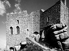 COR_0600 - Carn Brea Castle, Carn Brea, Redruth, Cornwall (www.jhluxton.com - John H. Luxton Photography) Tags: carnbrea redruth cornwall kernow uk carnbreacastle carnbreacastlerestaurant johnhluxtonphotography wwwjhluxtoncom cornwallandwestdevonmininglandscape kerrier kerrierdistrict historicbuilding camborne blackandwhite monochrome castle listedbuilding gradeiilistedbuilding