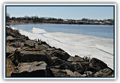 Almost Spring (bigbrowneyez) Tags: otawariver andrewhaydenpark spring fabulous sunny bello dof beautiful landscape afternoon almostspring striking stunning amazing snow acua neve april nature natura boulders pattern shapes frame cornice thaw springthaw primavera ottawa canada