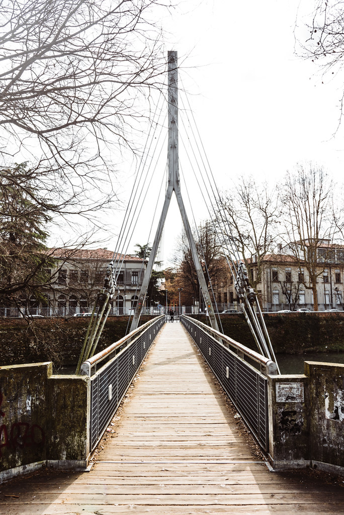 6949ea175c Pedestrian bridge in Padua, Italy (maxpoll) Tags: italy padova padua people  travel