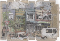 Addison Rd, Marrickville (Peter Rush - drawings) Tags: marrickville addison rd australia urbansketchers urbansketcherssydney usk peterrush sketch drawing locationdrawing sydney