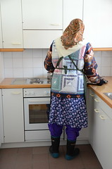 Slave Maid (Warm Clothes Fetish) Tags: slave torture warm girl hot fur boots coat fleece niqab hijab burka chador winter sweat apron maid waitress