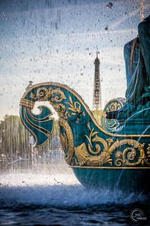 Place de la Concorde & the Eiffel Tower