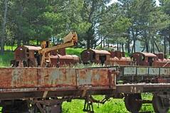 Narrow gauge graveyard at Mandas (TrainsandTravel) Tags: italy italia italie italien sardinia sardaigne sardinien sardegna fds ferroviedellasardegna arst narrowgauge voieetroite schmalspur 950mm mandas