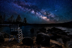 Tahoe Stars (Aaron_Smith_Wolfe_Photography) Tags: milkyway laketahoe sandharbor nevada sierra mountains stars lifeguard rocks composite nikon d810 tamron 1530