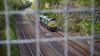 Yorkshire Square (_J @BRX) Tags: 014g leeds balmroadfhhfreightlinerclass 66horbury junction horbury yorkshire england uk spring may 2018 nikon d5100 freight train railway rail electromotive diesel emd gm lightengine fence bridge cutting 66588