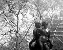 """Together we can achieve success"" (SevenOneSeven MamboDan) Tags: blackwhitephotography digitalartpainting adamevestatue baileyfountain brooklynnyc parkslope togetherwecanachievesuccess"