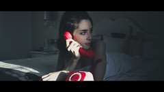 Hotel PhoneCall (Scope35) Tags: beauty portrait hotel room hilton new york sony emount cosina manuallens cinematic
