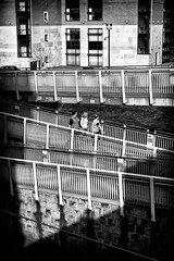 Three (The Glass Eye) Tags: panasonic1442mmf3556 sheffield april 2015 ramp hotel sunlight shadows street figures panasonic gx7