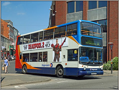 18153, Bridge Street (Jason 87030) Tags: traffic giveway may 2018 people woman bus dennis trident alx400 18153 stagecoach midlands roadside sony alpha a6000 ilce nex tag lens 10 shelfleys northants northampton doubledecker northamptonshire px04dpk deadpool2