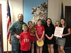 Mother's Day card, coloring, and flower delivery to Senator Shaheen's office in Manchester