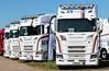 Line-up of ICS Haulage Scania S500 Trucks Peterborough Truckfest 2018 (davidseall) Tags: lineup ics international haulage scania vabis s500 truck trucks po18mvs po18 mvs lorry lorries tractor units large heavy goods vehicle lgv hgv peterborough truckfest show may 2018 uk