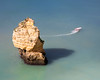 Obstacle Avoidance (JoshyWindsor) Tags: ndfilter rock benagil algarve landscape canoneos5dmarkiii agnitravel travel coastal longexposure marinha boat landscapes europe canonef70300mmf456l portugal