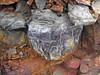 Pyrite atop chert nodule (Delaware Limestone, Middle Devonian; Emerald Parkway roadcut, Dublin, Ohio, USA) 4 (James St. John) Tags: delaware limestone devonian emerald parkway dublin ohio roadcut chert nodule nodules pyrite