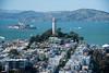 Coit Tower, Telegraph Hill, San Francisco (Paddy O) Tags: 2018 california sanfrancisco financialdistrict freightership telegraphhill baytobreakers alcatrazisland coittower cargoship downtown