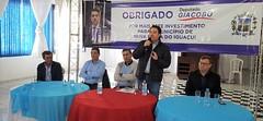 Entrega da reforma e ampliação do Ginásio de Esportes Faustinho, em Nova Prata do Iguaçu.