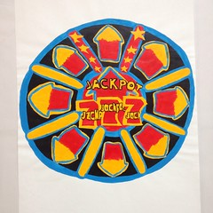 'You've reached the jackpot!' A primary drawing from my graduate collection #art #drawing #painting #textile #print #designer #graduate #jackpot #arcade #amusement #games #fun #happy #colourful (Madison Kilminster) Tags: art drawing painting textile print designer graduate jackpot arcade amusement games fun happy colourful