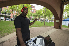 DJ at the Rally for Science (Fibonacci Blue) Tags: stpaul protest science minnesota rally marchforscience environment demonstration green marchforsciencemn event twincities music activist activism ecology ecological