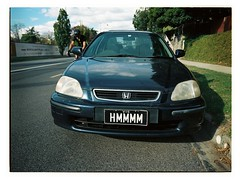 Things That Make You Go... (@fotodudenz) Tags: fuji fijifilm ga645w ga645wi medium format film rangefinder wide angle 28m 45mm kodak portra 160 120 6x45 645 mont albert victoria australia 2018 honda number plate hmmmm
