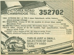 1987 Clark Cars newspaper advert (Nivek.Old.Gold) Tags: clarkcars poundhillgarage 1987 newspaper advert victoriaroad