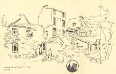 Impasse de la Vignette - Liège (lolo wagner) Tags: liège belgique rencontre dessin croquis sketch usk urbansketchers