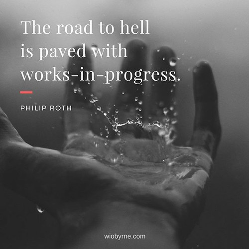 The road to hell is paved with works-in-progress. - Philip Roth This week I spent some time thinking through goals, projects, and visions. As part of this, I reflected on my own working styles, as well as how I've advanced on these goals over time. I lear