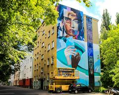 OPEN YOUR THIRD EYE (JuliSonne) Tags: streetart urbanart wall graffiti colors scene urban pasteup stencil street berlin muralfestivalberlin mural