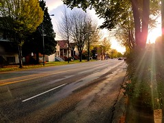Sunset (Whistler Whatever) Tags: sunny lensflare canada neighborhood commercialdrive traffic vancouver city sunset