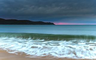 Overcast Cloudy Sunrise Seascape