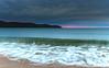 Overcast Cloudy Sunrise Seascape (Merrillie) Tags: daybreak landscape nature dawn waves waterscape water uminabeach newsouthwales clouds earlymorning nsw sunrise beach ocean sky australia morning coastal sea outdoors seascape coast centralcoast cloudy seaside
