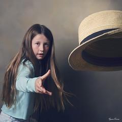 Catch (Tyson J) Tags: select tyson fuji streaklight portrait hat catch throw fedora girl blue action square