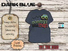 < SP > Mommy's Little Man_Dark Blue (Sweet.Potatoes) Tags: toddleedoo kids baby tee shirt boys brother son family daughter girls sister mothers day second life roleplay mommys little man vintage flowers