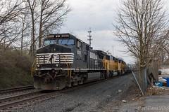 Belt Up (Dan A. Davis) Tags: norfolksouthern ns readingline reading pa pennsylvania railroad freighttrain locomotive train union pacific d944cw sd60m sd70m 16n