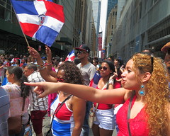 Did Your Mommy Never Tell You...? (Viejito) Tags: diospatrialibertad bermellón ultramar blanco red white blue trujillo duarte deligne arribaelpabellón pabellón dominican parade republicadominicana dominicanrepublic quisqueya hispaniola laespañola columbus santodomingo 1492 nationaldominicanparade dominicandayparade sixthavenue avenueoftheamericas weiner spitzer bloomberg gritos banderas flags manhattan newamsterdam nyc newyork newyorkcity bigapple geotagged ny usa unitedstates amérique américa canon s100 canons100 powershot geo:lat=40754993 geo:lon=73984276 patriotism girl young ladies redhead female tan models lips top shoulders patriotic earrings dysphonia life facial expression profile finger