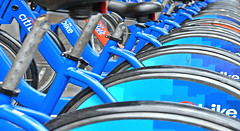 nyc blue (poludziber1) Tags: bycicle ny color colorful city travel blue urban usa nyc newyork