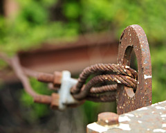 Iron, Rust, Steel Cable bokeh (dsgetch) Tags: bokeh steelcable rust iron rusty industrial depthoffield dof springfieldoregon springfield millrace millracebikepath cascadia pacificnorthwest pnw pnwlife abandonedpnw abandoned oregon willamettevalley lanecounty