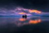 sunset 5624 (junjiaoyama) Tags: japan sunset bluehour sky light cloud weather landscape blue orange pink contrast color bright lake island water nature spring reflection