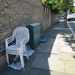 Chairs, broken plastic & umbrella thumbnail