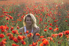 red and blond 1 (szlavid) Tags: pipacs model woman morning light spring flowers nature