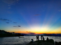 Dusk (MelindaChan ^..^) Tags: zhuhai china 珠海 外伶仃島 chanmelmel mel melinda melindachan sky sunset water sea evening island