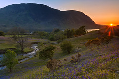 Rannerdale Valley Bluebells at Sunset (emperor1959 www.derekbeattieimages.com) Tags: bluebells rannerdalevalley rannerdaleknotts englishlakedistrict lakedistrictnationalpark sunset mellbreak crummockwater lake stream beck squatbeck trees cumbria flowers springtime