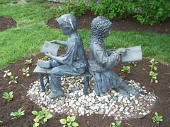 OH Bowling Green - Sculpture 5 (scottamus) Tags: bowlinggreen ohio woodcounty modern contemporary art sculpture statue library books children